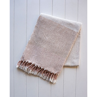 Throw Blanket - Fawn - Natural/Blush - 125x150