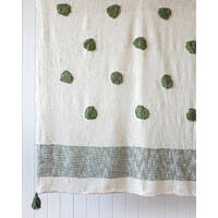 Throw Blanket - Pomona - Olive Green/Natural - 125x150