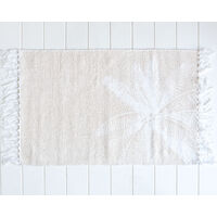 Cotton Mat - Coco Palm - Natural/White - 80x50