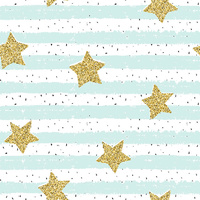 Canvas Print - Jnr. - Stripes and Stars Light Blue - 60x60