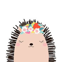 Canvas Print - Jnr. - Henrietta Hedgehog - 60x60