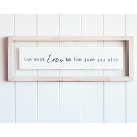 Quote Wall Art - Best Love - Perspex - 56x20