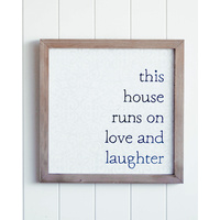 Quote Wall Art - Love and Laughter - 40x40