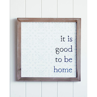 Quote Wall Art - No Place Like Home - 40x40