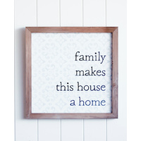 Quote Wall Art - House a Home - 40x40