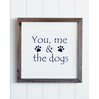 Quote Wall Art - Doggy Family - 40x40