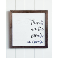 Quote Wall Art - Friends as Family - 40x40
