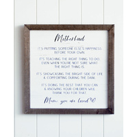 Quote Wall Art - Mother's Love - 40x40