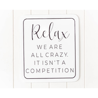 Quote Wall Art - All Crazy Tin Sign - 33x38