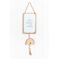 Quote Sign - Forever Chasing Rainbows - 15x62 (MIN 2)