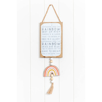 Quote Sign - Somewhere Over the Rainbow - 15x62