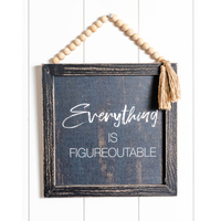 Quote Sign - Everything is Figureoutable - 24x33 (MIN 2)