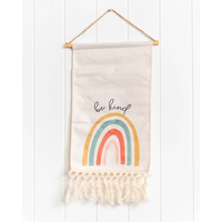 Quote Sign - Be Kind Rainbow Scroll - 25x60 (MIN 2)