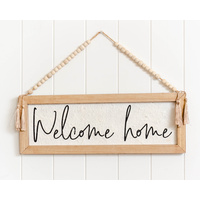 Quote Wall Art - Welcome Home - 50x18