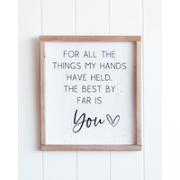Quote Wall Art - Hands Held You - 30x34 (MIN 2)
