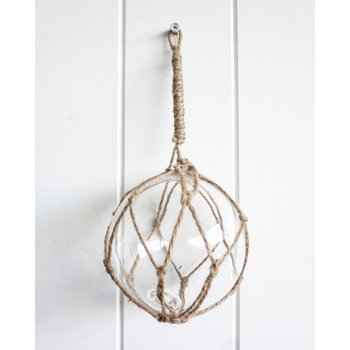 Decor - Buoy Glass - Natural Rope - 10cm (MIN 4)