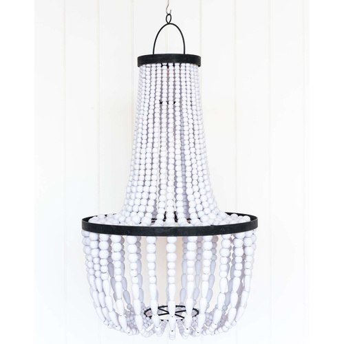 Beaded Chandelier - 40x60 - Lola White