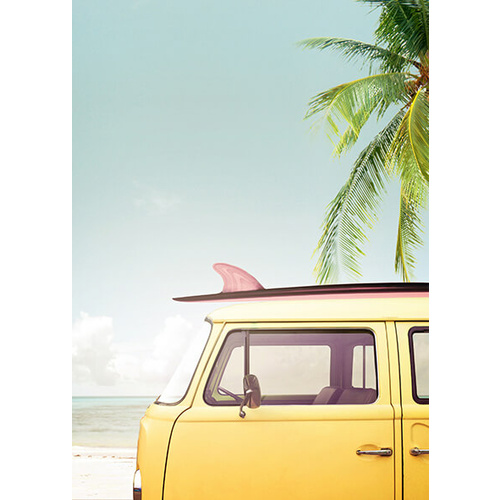 Canvas Print - Yellow Combi Beach Days - 50x70