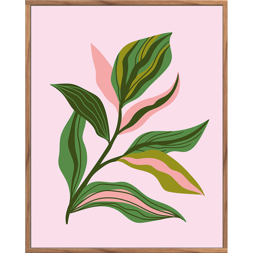 Floating Frame - Pink Leaf Portrait - 80x100