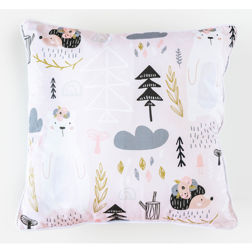 Cotton Cushion - Jnr - Blush Wild - 45x45