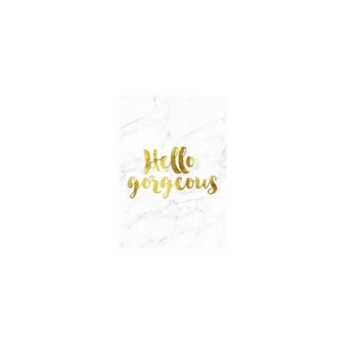 A4 Poster - Gold Foil/Marble Background - Hello Go (MIN 6)