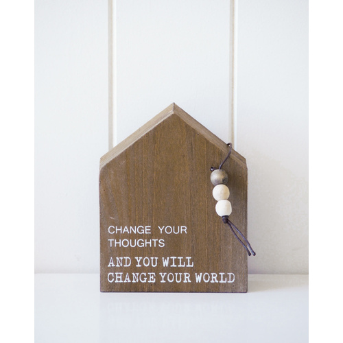 Timber Quote Box - Change Your World - 12x15x5 (MIN 2)